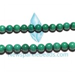 Malachite03 6mm round beads